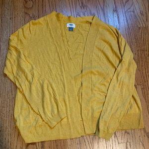 Old Navy Mustard Cardigan